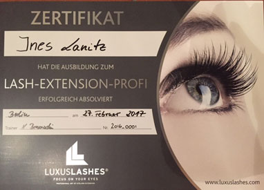 LuxusLashes Wimpern bei Lanitz Kosmetik in Leipzig